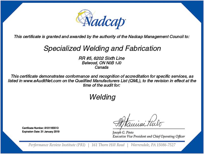 Specialized Welding & Fabrication Ltd.